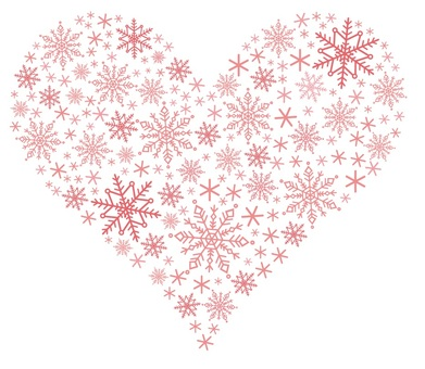 Snowflake Pink Heart