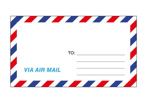Air mail envelope illustration