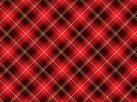 Red tartan check B 03