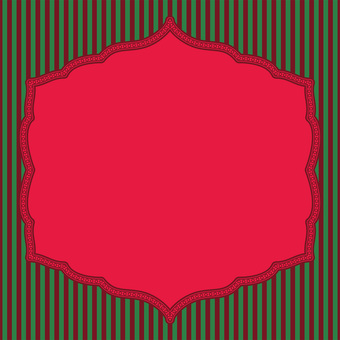 Card (striped red and green)
