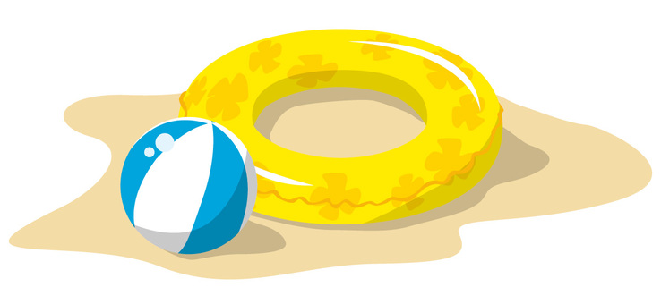 Float ring and beach ball