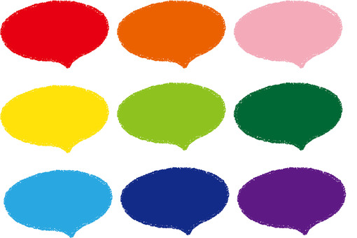 Crayon-style speech bubble set