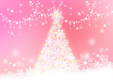 Christmas tree _ pink background