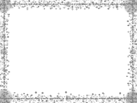 도트 & 사각 프레임 (흑백)