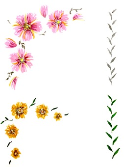 Watercolor hand-painted flowers