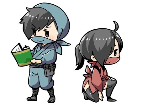 Male and female ninja