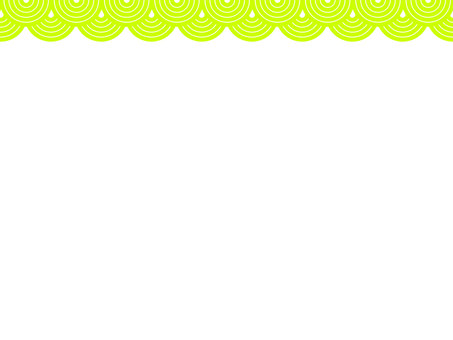 Japanese Frame Qinghai Wave 3 Yellow Green