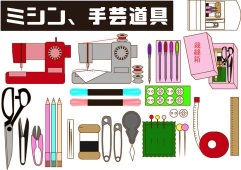 Sewing machine, sewing set