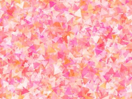 Glittery triangle pink