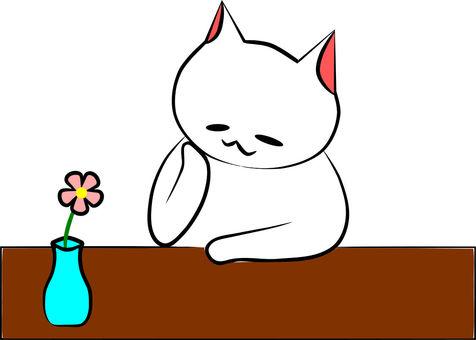 One wheel flower with Nyanko
