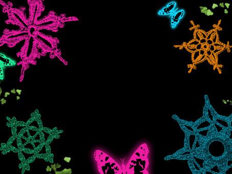 수제 원사의 결정과 나비