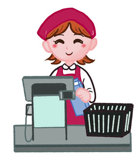 Cash register staff
