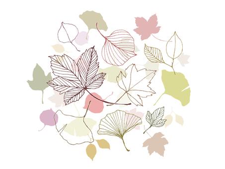 【Handwriting】 Fallen leaves 1