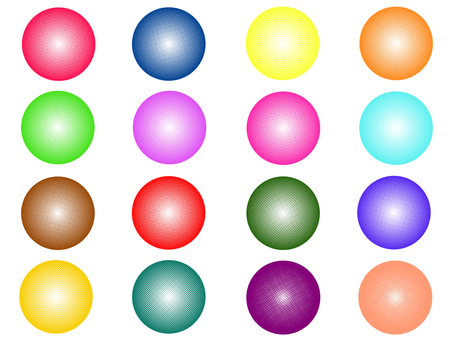 Color dot sphere
