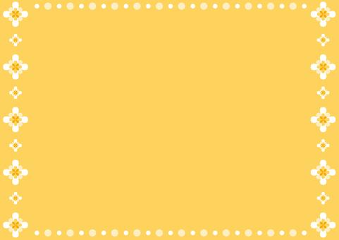 프레임 - 꽃의 둘레 - 오렌지