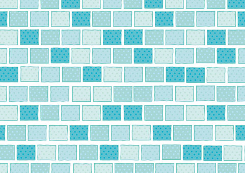 Dingyama tile 【blue】 180430