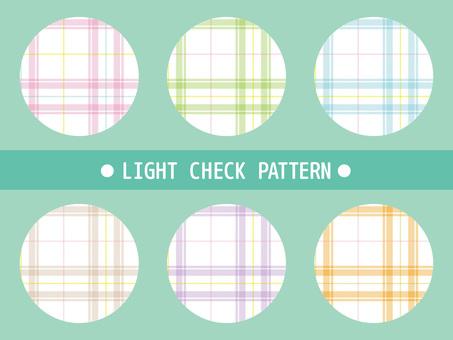 Bright mixed tartan check material 1