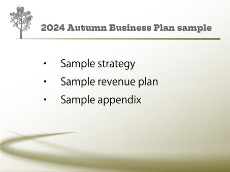Business template autumn 2