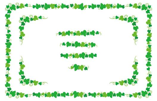녹색 나뭇잎 프레임