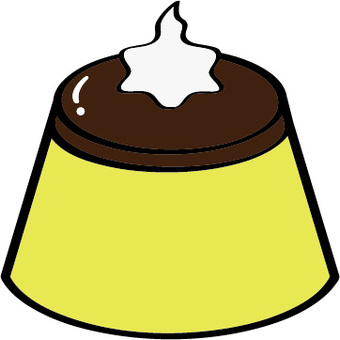 Pudding (with cream)