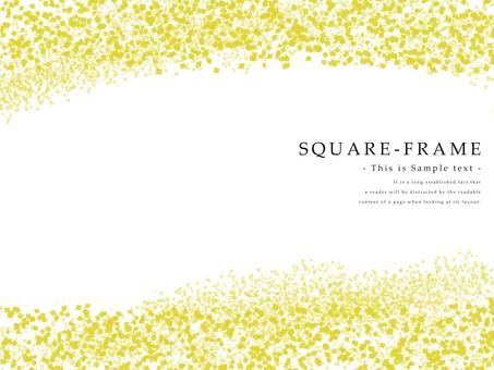 ミニ四角のフレーム 黄