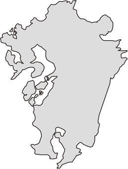 Kyushu Map Monochrome