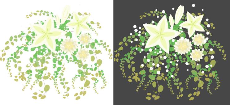 Lily arrangement white