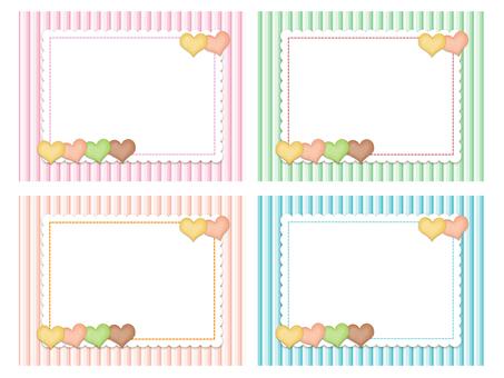 Heart cookie card set