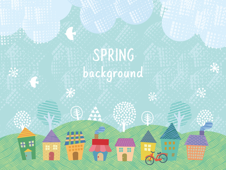 Background _ spring landscape