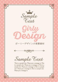 Girly design background frame