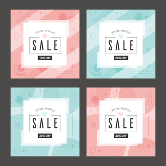 Sale background frame geometric pattern