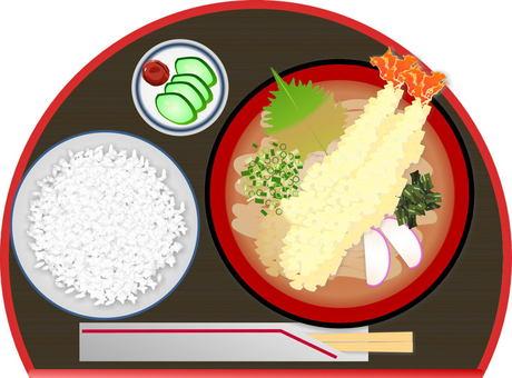 Tempura udon set menu