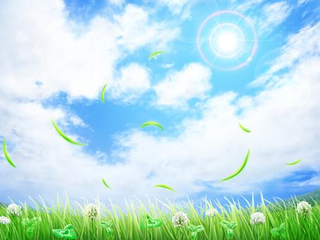 Grass White God grass blue sky background · Wallpaper Frame 2