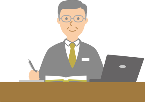 Businessman 015 (desk work manager)
