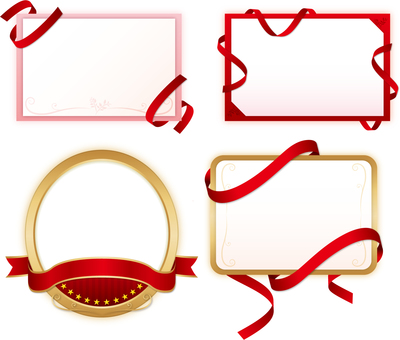 Ribbon decoration frame set