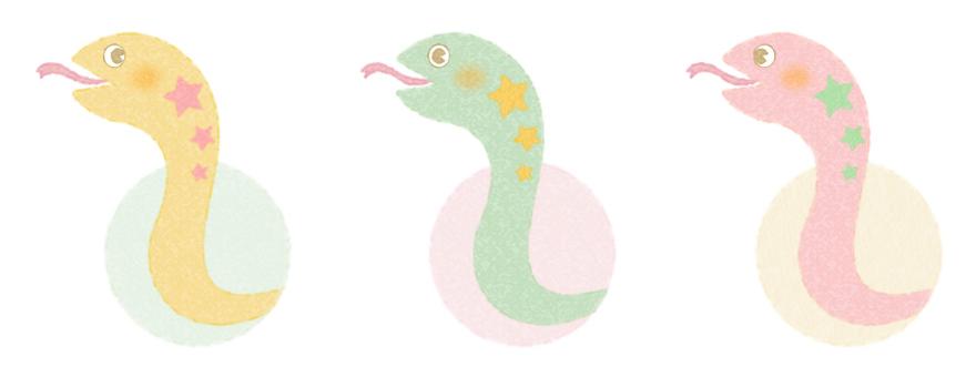 Trio the snake