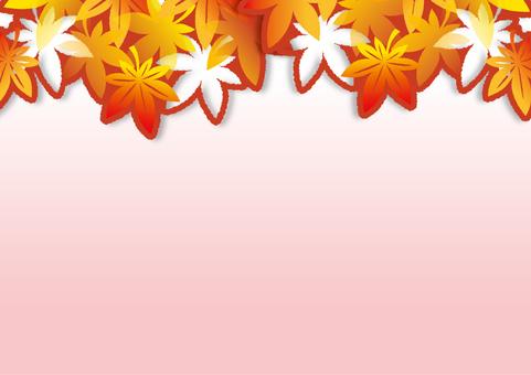 紅葉の切り絵風フレーム_C01