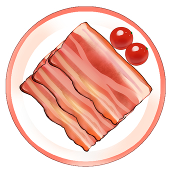 Bacon cherry tomatoes dish