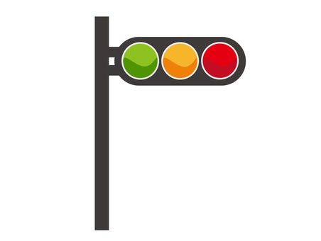 Signal traffic light sign