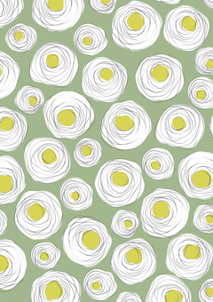 Spiral rose green