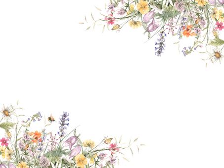 Flower frame 154 - Flower frame of landscape in the field