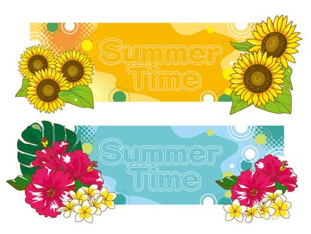 여름 꽃 프레임 02