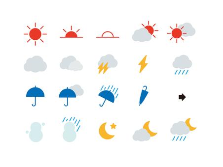 간단한 날씨 마크 세트 칼라