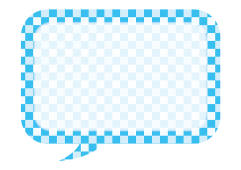 Checkered balloon (blue 1)