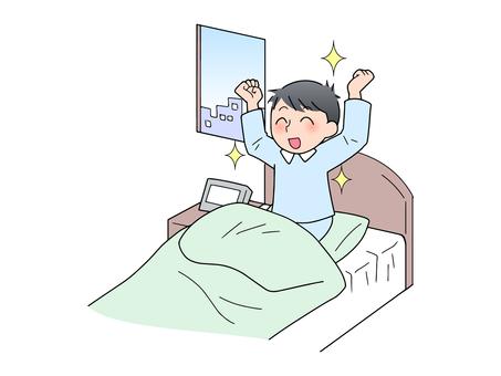 爽やかな目覚め(男性)