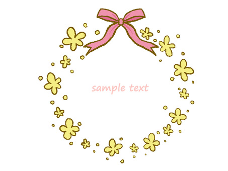 Flower and ribbon frame 1