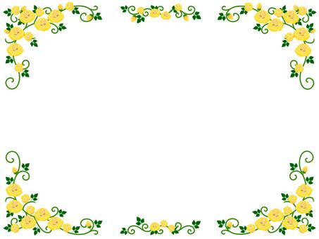 Yellow rose frame