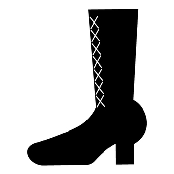 Black boots (with ties)
