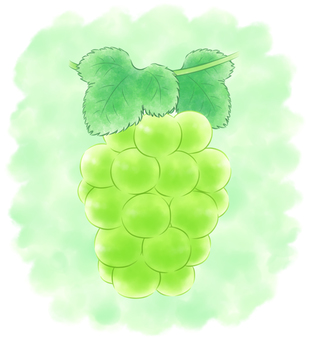 Round-grained grape green system with background