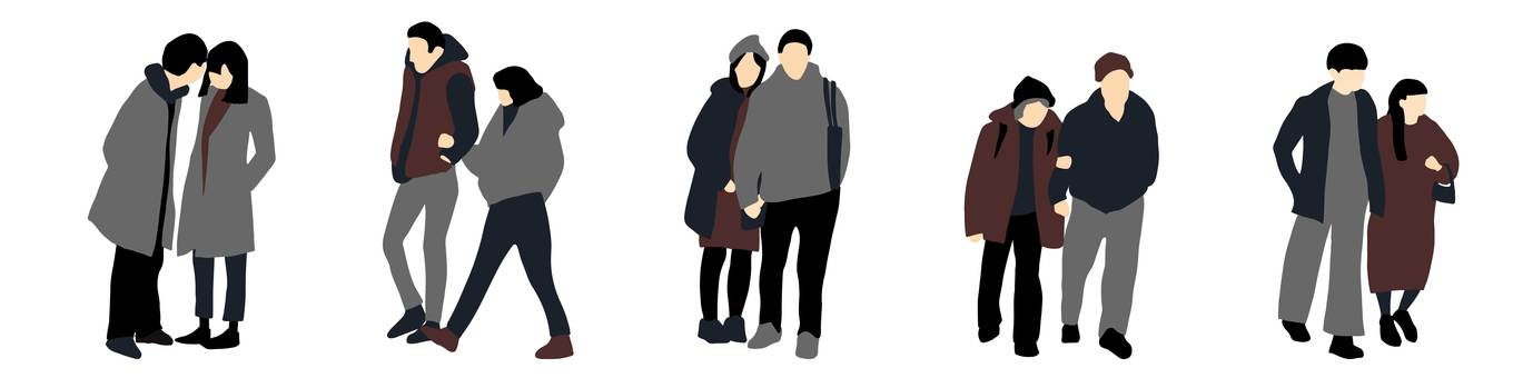 City people set 4 couples and couples
